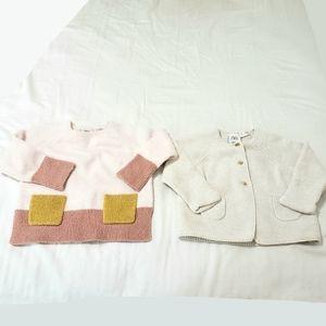 Zara Long Sleeve Sweater 2 Piece Bundle Lot